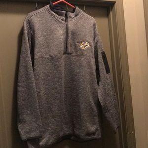 Nashville Predator's Mens Antigua 1/2 zip pullover